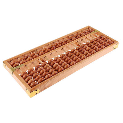 15 Rows Chinese Wooden Beads Arithmetic Abacus Calculator for Kids Education