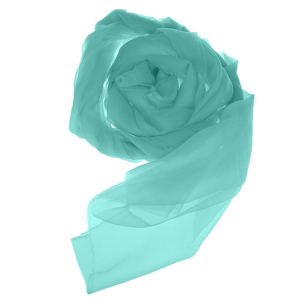 1.5m Wide Organza Fabric Wedding Curtain Sheer Drape Sash Decoration Skyblue
