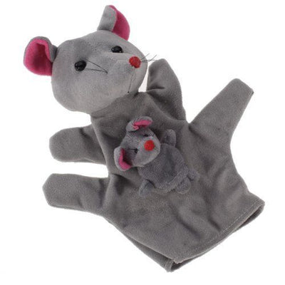 Grey Mouse Hand Puppet Finger Puppets CS