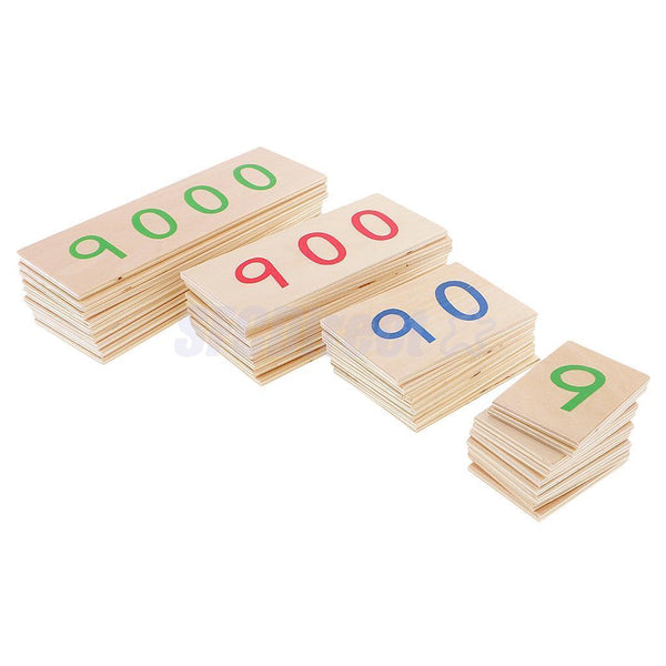 Beechwood Montessori Small Number Cards Kids Early Learning Educational Toys