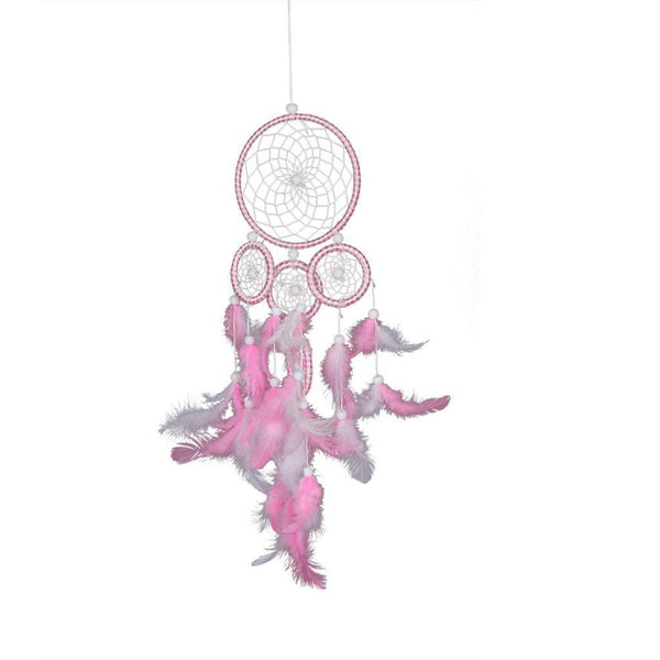 Handmade Dreamcatcher Window Wall Hanging Craft Decorative Ornaments -Pink