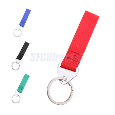 Keyring Racing Sport Tow Hook Strap Band Nylon Red with Metal Key Chain