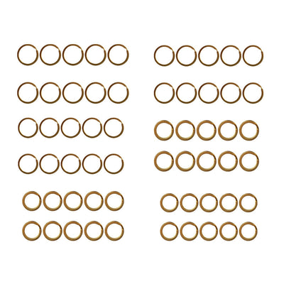 60Pcs Brass Split Ring Key Holder Connector Clasps Loop Keychain Accessories