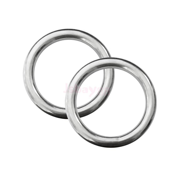 "2pcs Stainless Steel O Round Rings Circle Craft Webbing Boat 0.24"" x 1.4"""