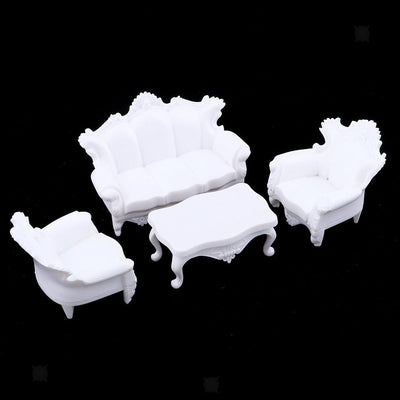 Set of 1:25 European Sofa Models Furniture Building Park Garden Accessories