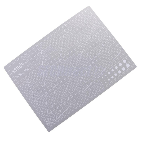 A4 Size 30x22cm Double Sided Cutting Mat PVC Board for DIY Patchwork Grey