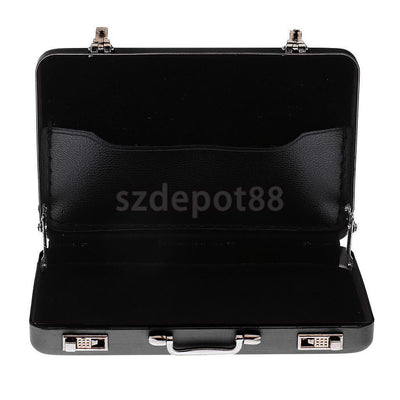 Alloy ID Credit Card Holder Box Suitcase Business Name Card Suitcase - Black