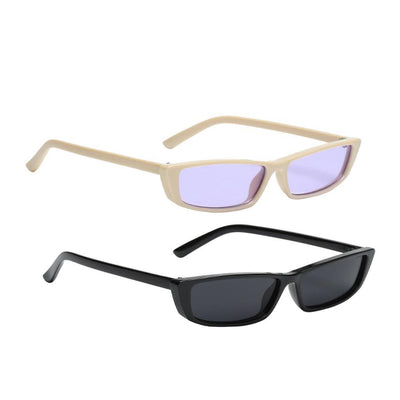 2pcs Fashion Sun Glasses Eyewear Sunglasses of Women Men Eyewear