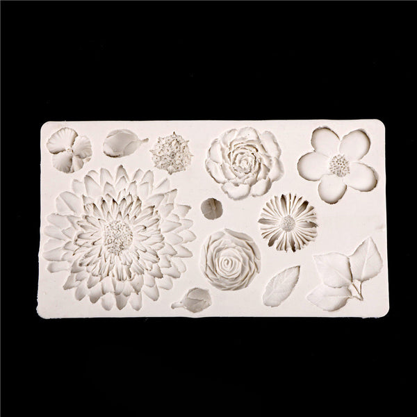 Flower Silicone mold fondant mold cake tools chocolate gumpaste mold Z