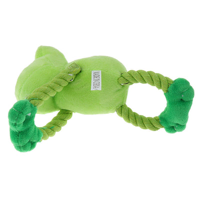 Doggie Stuffed String Frog Puppy Pet Dog Chew Play Squeaky Sound Toys Plush