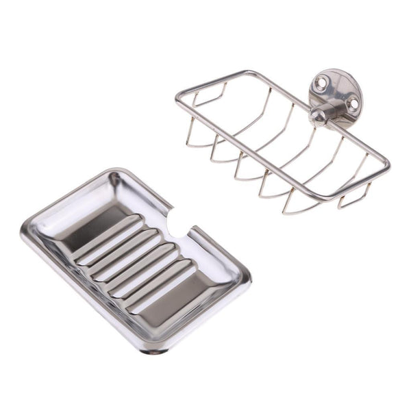 Stainless Steel Bathroom Kitchen Shower Soap Holder Wall Mount
