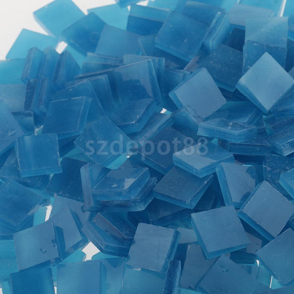 500pcs Vitreous Glass Mosaic Tiles Pieces for DIY Craft Material Art Blue