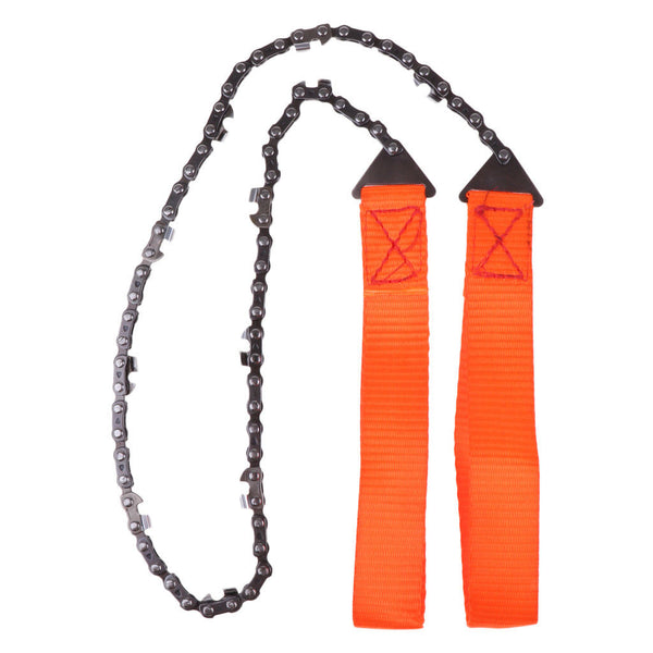Outdoor Hand Wire Saw Pocket Flexible Chainsaw Emergency Survival Kit Orange