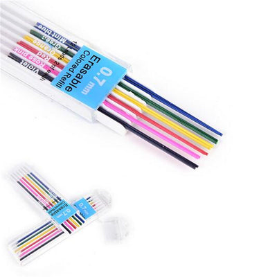 12pcs/Box Automatic Mechanical Pencil Refill 6Color Lead School Stationery 0.7mm