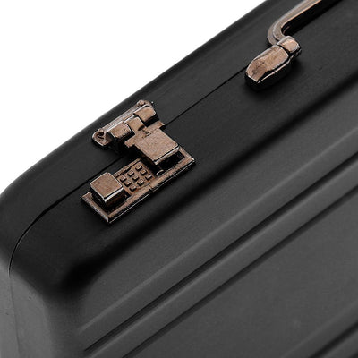 Black Aluminum Alloy Business ID Credit Card Wallet Holder Case Box Suitcase