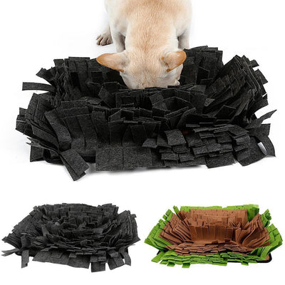 Washable Dog Snuffle Mat Snuffing Rug Training Mat Play Mat Green+Brown