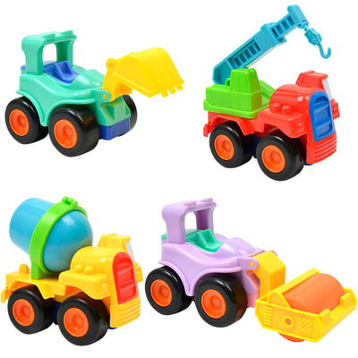 4Pcs Mini Car Toys Inertial Engineering Van Children Kids Educational Toys