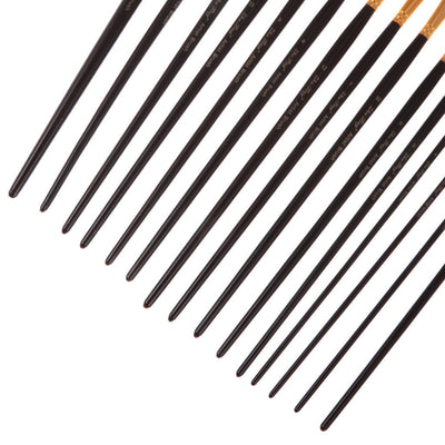 15Pcs Artist Paint Brushes Oil Painting Brush Sets Assorted Craft Brushes