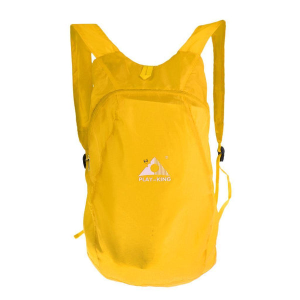 Yellow Ultralight Foldable Sports Backpack for Travel Hiking Camping Cycling