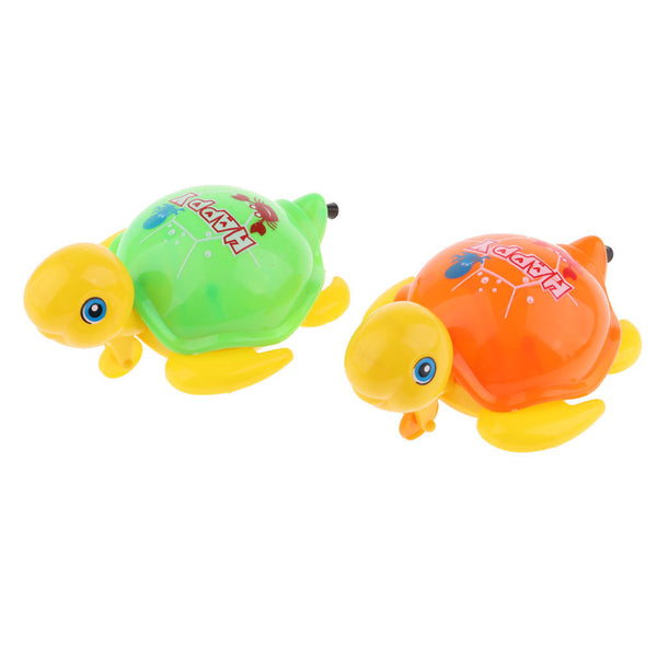 Random Pull Cartoon Wind Up Tortoise Turtle Animals Baby Kids Clockwork Toys