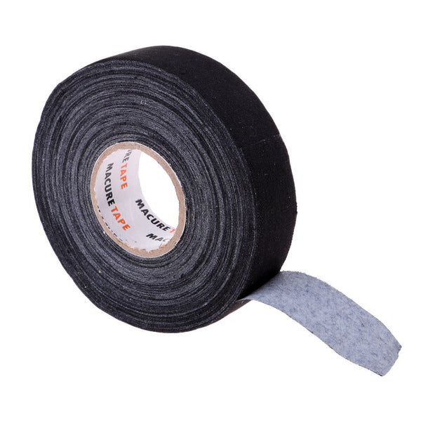 "2 Roll of Black or White Cloth Hockey Stick Tape Pro Quality 1"" X 25 Yards"