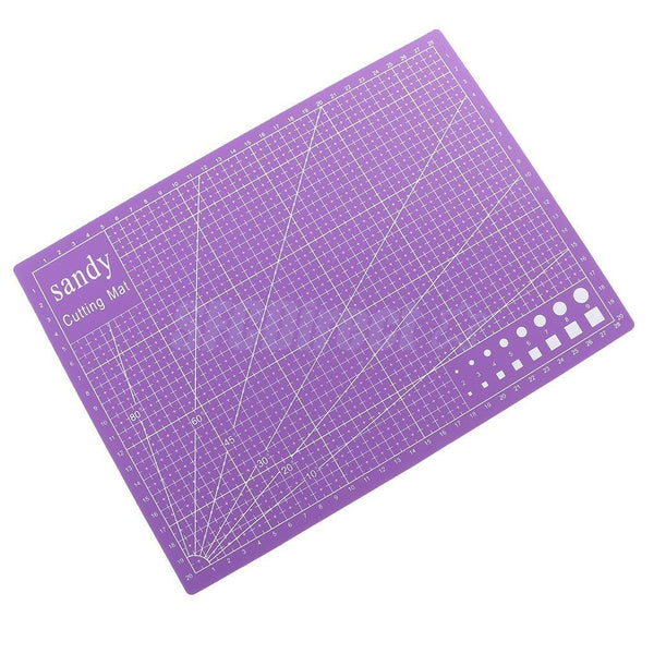 A4 Size 30x22cm Double Sided Cutting Mat PVC Board for DIY Patchwork Purple
