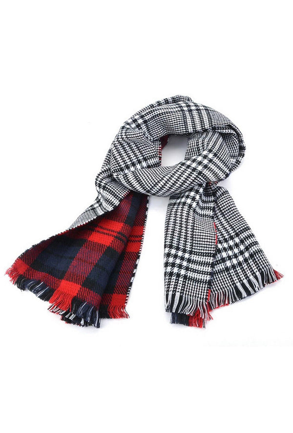 Lady Women's Long Check Plaid Tartan Scarf Wraps Shawl Stole Warm Scarves R Q0Y0