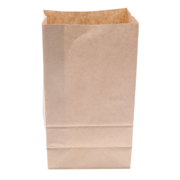 100 Pcs Kraft Paper Food Packing Bag Takeaway Takeout Bakery 13x8x24cm