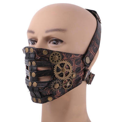 Punk Leather Halloween Masquerade Mask Unisex Winter Motorcycle Face Mask