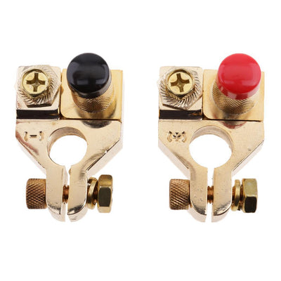 Pair Universal Positive&Nagative Car Battery Terminal Clamp Clip Connectors