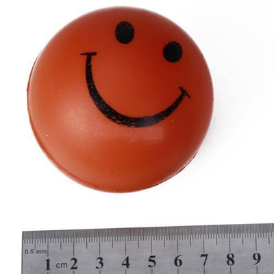 Bulk Lot of 3x12Pcs Happy Smile Face Stress Relief Foam Bouncy Squeeze Ball Toys