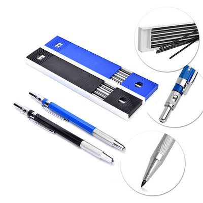 Useful 2mm Automatic Draughting Mechanical Drafting Pencil Set With 12Pcs Leads
