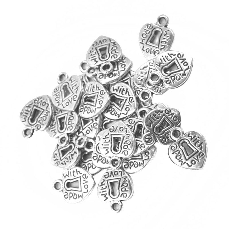 150 Pieces Love Heart Charms Pendants for DIY Jewelry Making Findings Beads