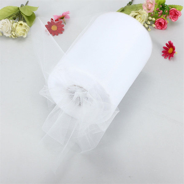 "Soft 6""x100yd Tulle Roll Spool Wedding Decor 6""x300' milk white T2P3"