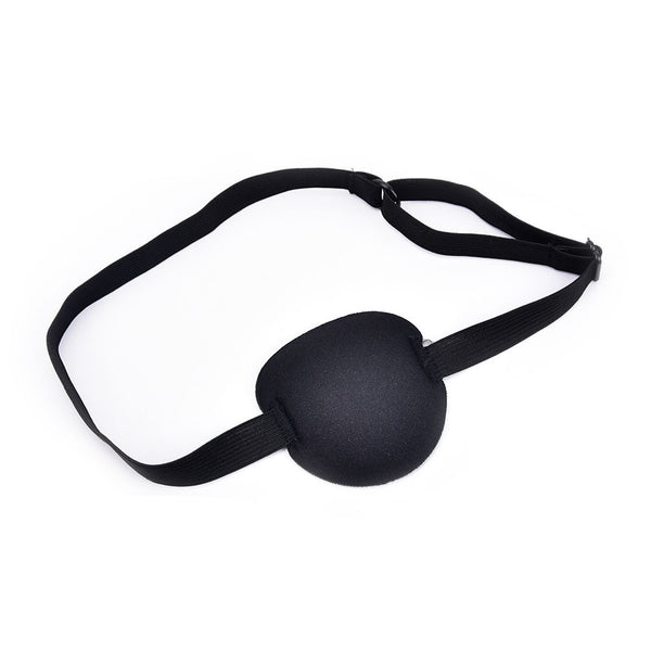 Medical Use Concave Eye Patch Foam Groove Adjustable Strap Washable Eyeshades Z