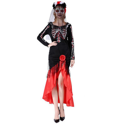 Ladies Fancy Dress Halloween Skeleton Costume Halloween Outfits