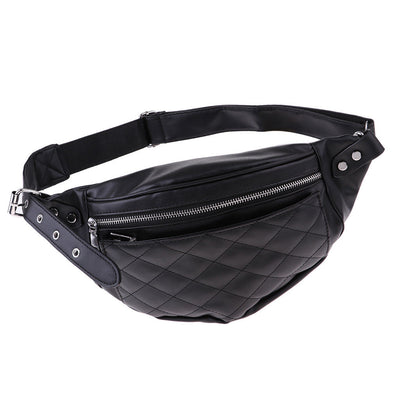 MagiDeal Lady Fanny Pack Shoulder Chest Belt Bag Zipper Pouch Purse Wallet