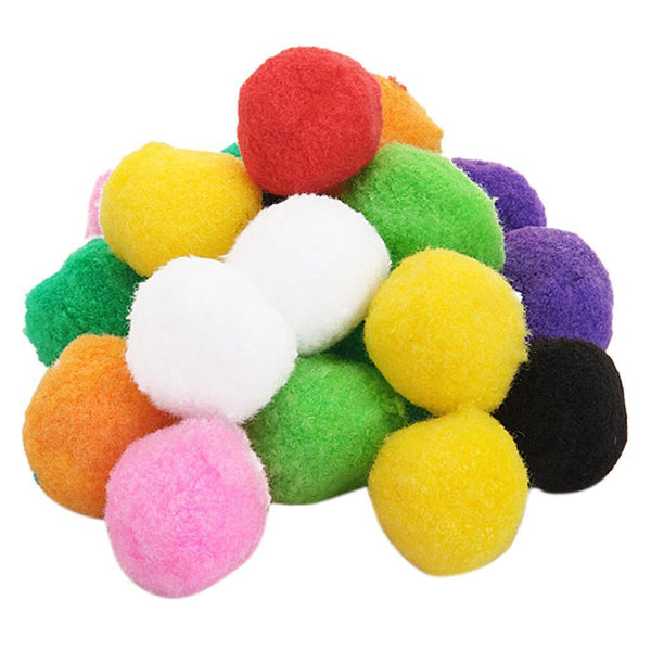 20pcs Multicolor Round Felt Ball 4cm for Threading by Needles Great Craft DIY