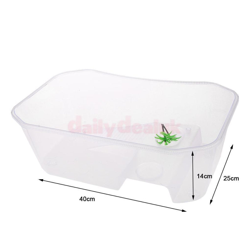 Strong Reptile Vivarium Tank Breeding Box for Terrapin Tortoise Turtle White