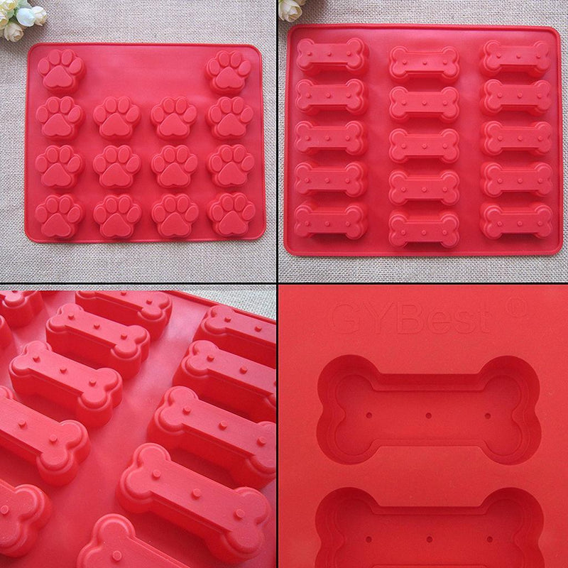 2x New Bone Footprint Silicone Fondant Moulds Cake Decor Molds Kitchen Tool