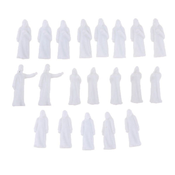20x Arabian People Figures Unpainted 1:150 Scale N for Train Railroad Layout