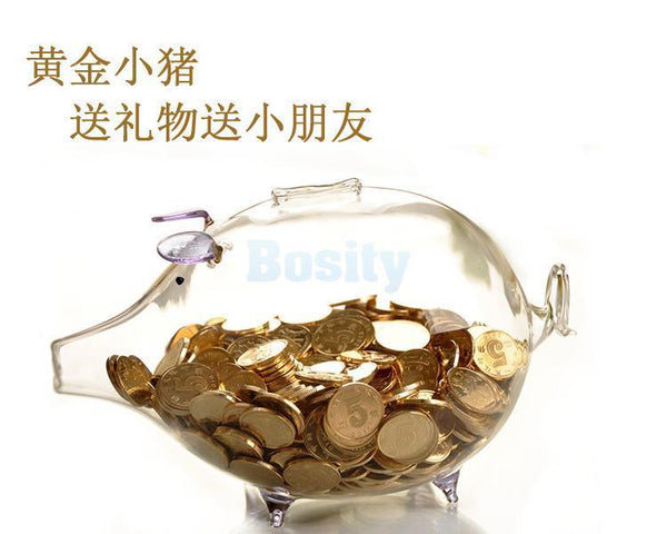 Glass Piggy Bank Money Box Money Saving Box Cash Collectible Novelty Gifts