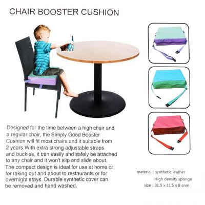 Baby Kids Dismountable Highchair Booster Cushion Thick Chair Seat Pads Red