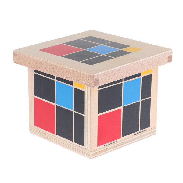 Montessori Teaching Material Trinomial Cube Set Boys Girls Wooden Toys Gift