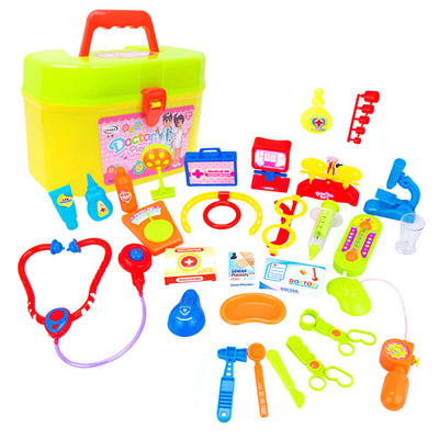 30Pcs Kids Doctor Nurse Medical Tool Kits Pretend Role Play Game Props Toys