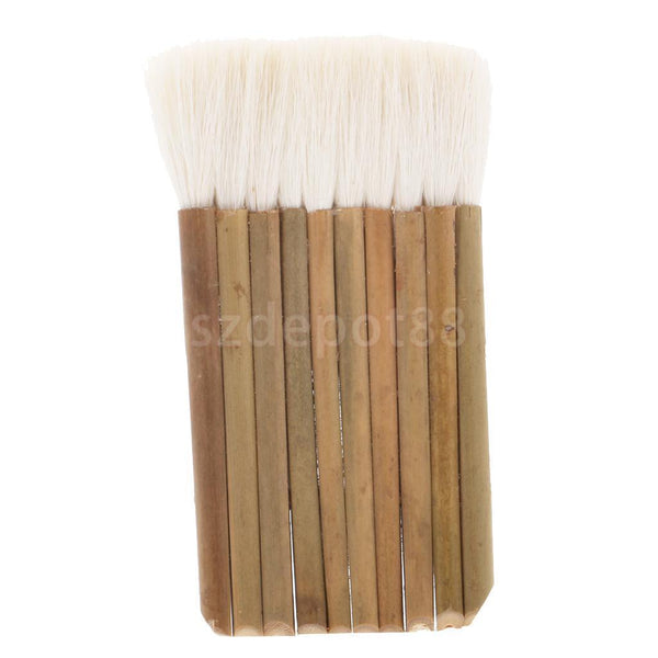 10x7cm Artificial Wool Bamboo Handle Varnish Oil Paint Painting Paintbrush