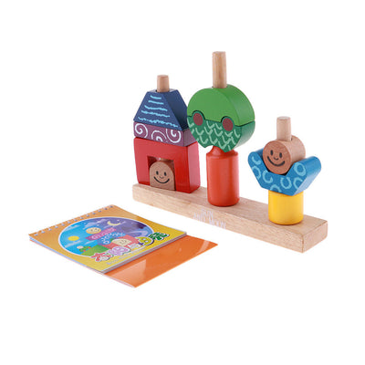 Geometric Shapes Assembled Building Blocks Baby Kid Intellectual Development
