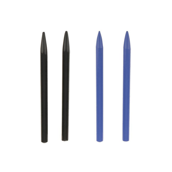4x Paracord Lacing Stitching Weaving Needles Stainless Steel Black Blue