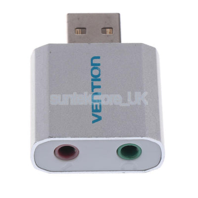 Durable USB External Sound Cards USB2.0 to 3.5mm Audio Adapter Plug and play
