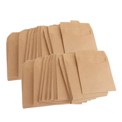 100Pcs Kraft Paper CD DVD Sleeve Envelopes Discs CDR CD Packaging Bags Case